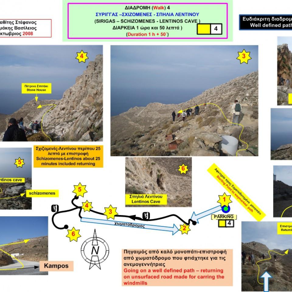 Σύριγγας – Σχιζομενές – Σπηλιά Λεντίνου