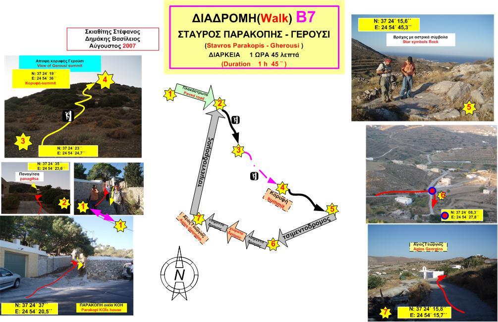 Χάρτης Β7: Σταυρός Παρακοπής - Γερούσι