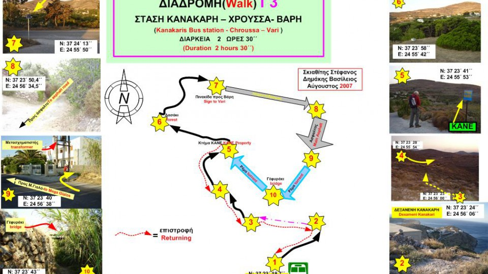 Χάρτης Γ3: Στάση Κανακάρη – Χρούσσα